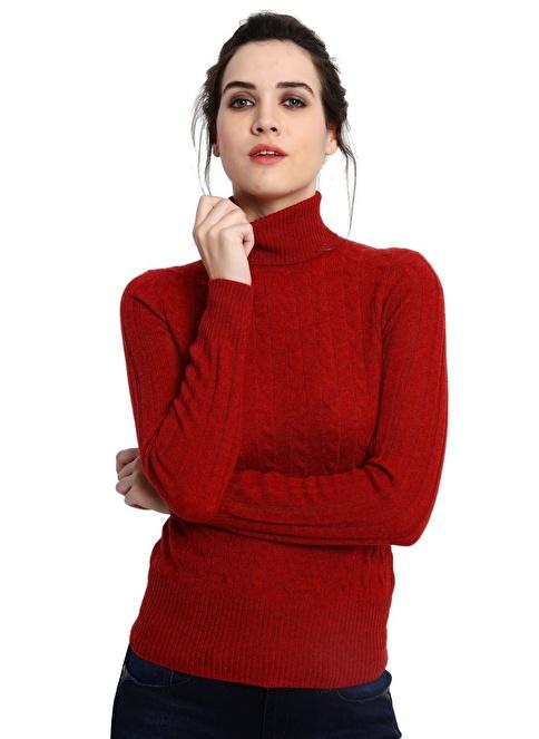 Silk and Cashmere Kazak Kırmızı